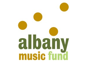 Winning selection for Albany Music Fund logo
